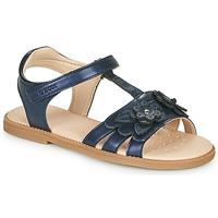 kengät Tytöt Sandaalit ja avokkaat Geox J SANDAL KARLY GIRL Laivastonsininen