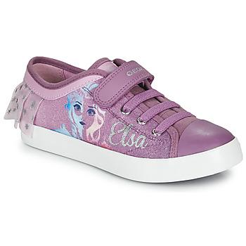 kengät Tytöt Matalavartiset tennarit Geox JR CIAK GIRL Violet