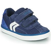 kengät Pojat Matalavartiset tennarit Geox B KILWI BOY Blue / White