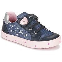 kengät Tytöt Matalavartiset tennarit Geox B KILWI GIRL Blue / Pink