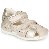 kengät Tytöt Sandaalit ja avokkaat Geox B KAYTAN Kulta / Beige