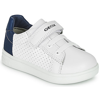 kengät Pojat Matalavartiset tennarit Geox B DJROCK BOY White / Blue