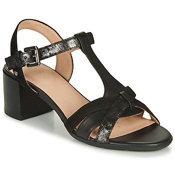 kengät Naiset Sandaalit ja avokkaat Geox D MARYKARMEN MID SAN Musta