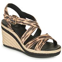 kengät Naiset Sandaalit ja avokkaat Geox D PONZA Brown / Black