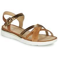 kengät Naiset Sandaalit ja avokkaat Geox D SANDAL HIVER Kulta / Brown