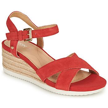 kengät Naiset Sandaalit ja avokkaat Geox D ISCHIA CORDA Red