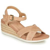 kengät Naiset Sandaalit ja avokkaat Geox D ISCHIA CORDA Beige