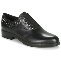 kengät Naiset Derby-kengät Geox D BROGUE S Black / Kulta