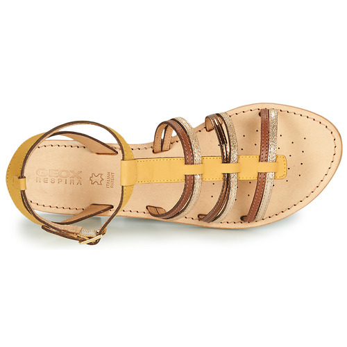 Geox D Sozy Yellow / Brown Kulta - Ilmainen Toimitus- Kengät Sandaalit Naiset 61