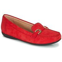 kengät Naiset Mokkasiinit Geox D ANNYTAH MOC Red / Kulta