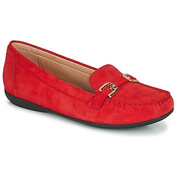 kengät Naiset Mokkasiinit Geox D ANNYTAH MOC Punainen / Kulta
