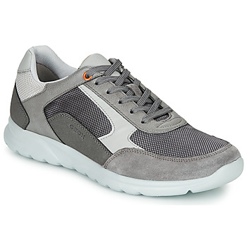 kengät Miehet Matalavartiset tennarit Geox U ERAST Grey / White / Orange