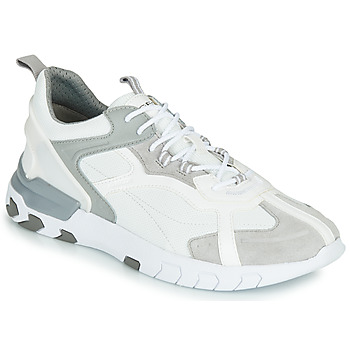 kengät Miehet Matalavartiset tennarit Geox U GRECALE White / Grey