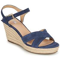 kengät Naiset Sandaalit ja avokkaat Geox D SOLEIL Sininen