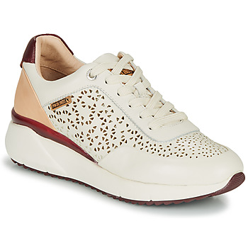 kengät Naiset Matalavartiset tennarit Pikolinos SELLA W6Z White / Bordeaux