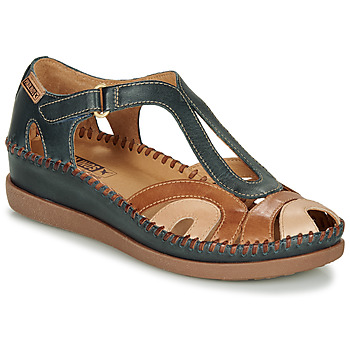 kengät Naiset Sandaalit ja avokkaat Pikolinos CADAQUES W8K Blue / Camel