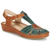 kengät Naiset Sandaalit ja avokkaat Pikolinos P. VALLARTA 655 Camel / Green