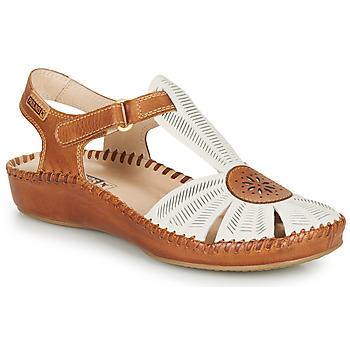 kengät Naiset Sandaalit ja avokkaat Pikolinos P. VALLARTA 655 White / Camel
