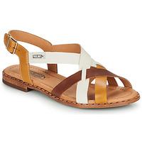 kengät Naiset Sandaalit ja avokkaat Pikolinos ALGAR W0X Cognac / White / Yellow