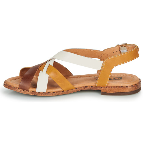 Pikolinos Algar W0x Cognac / White Yellow - Ilmainen Toimitus- Kengät Sandaalit Naiset 73