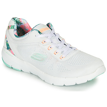 kengät Naiset Fitness / Training Skechers FLEX APPEAL 3.0 White