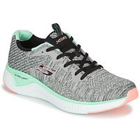 kengät Naiset Fitness / Training Skechers SOLAR FUSE BRISK ESCAPE Grey / Green / Pink