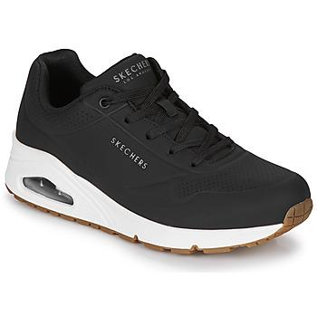 kengät Naiset Matalavartiset tennarit Skechers UNO STAND ON AIR Musta