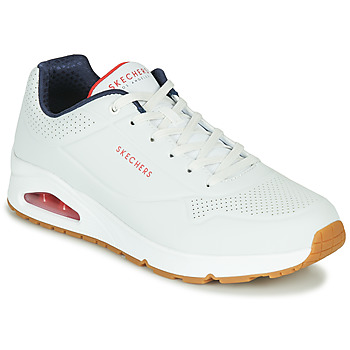 kengät Miehet Matalavartiset tennarit Skechers UNO STAND ON AIR White