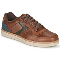 kengät Miehet Matalavartiset tennarit Skechers HESTON PELANO Brown / Blue