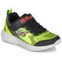 kengät Pojat Matalavartiset tennarit Skechers GO RUN 600 BAXTUX Musta / Keltainen