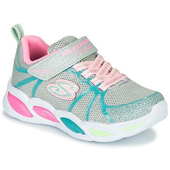 kengät Tytöt Urheilukengät Skechers SHIMMER BEAMS Hopea / Pink / Blue