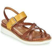 kengät Naiset Sandaalit ja avokkaat Tamaris EDA Brown / Yellow