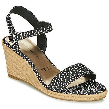 kengät Naiset Sandaalit ja avokkaat Tamaris LIVIA Black / White