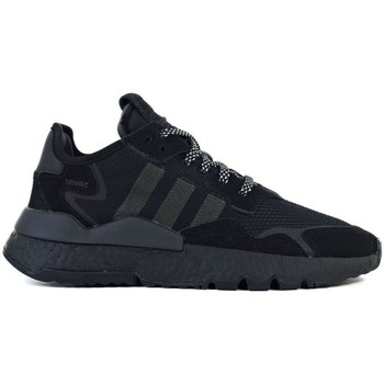kengät Lapset Matalavartiset tennarit adidas Originals Nite Jogger J Mustat