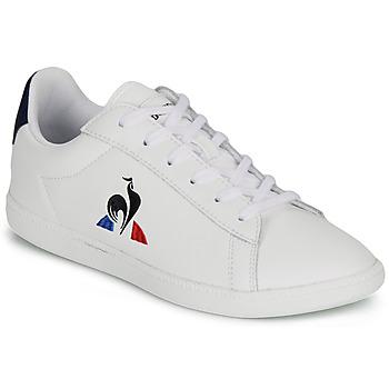 kengät Lapset Matalavartiset tennarit Le Coq Sportif COURTSET GS White