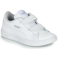 kengät Lapset Matalavartiset tennarit Puma Puma Smash v2 L V PS White