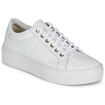 kengät Naiset Matalavartiset tennarit Vagabond Shoemakers ZOE PLATFORM Valkoinen