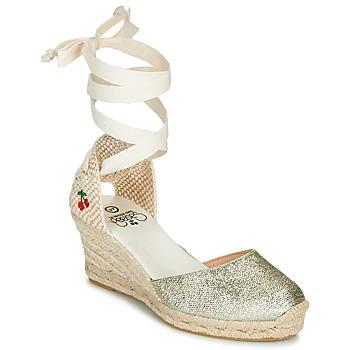 kengät Naiset Sandaalit ja avokkaat Le Temps des Cerises POLY Kulta