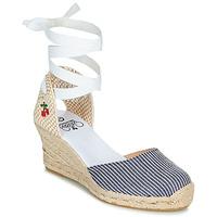 kengät Naiset Sandaalit ja avokkaat Le Temps des Cerises POLY Sininen / Valkoinen