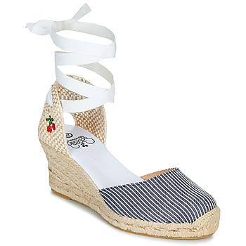 kengät Naiset Sandaalit ja avokkaat Le Temps des Cerises POLY Blue / White