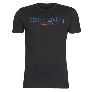 vaatteet Miehet Lyhythihainen t-paita Teddy Smith TICLASS Musta