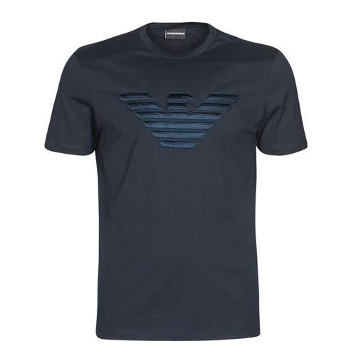 vaatteet Miehet Lyhythihainen t-paita Emporio Armani DOUNIA Laivastonsininen