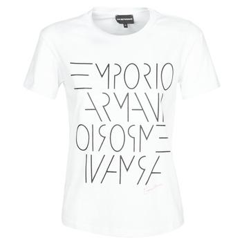 vaatteet Naiset Lyhythihainen t-paita Emporio Armani DONOVANN White