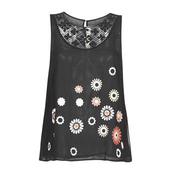 vaatteet Naiset Hihattomat paidat / Hihattomat t-paidat Desigual TEBAS Black