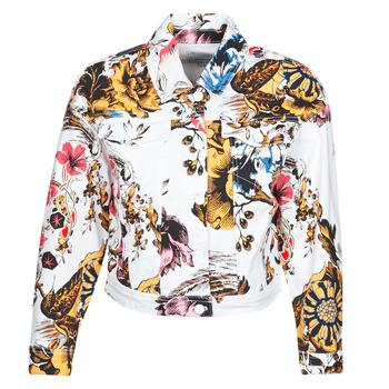 vaatteet Naiset Farkkutakki Desigual FANTASY Multicolour