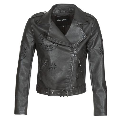 vaatteet Naiset Nahkatakit / Tekonahkatakit Desigual UTAH Black