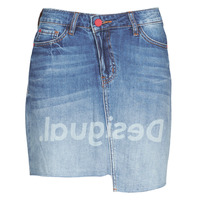vaatteet Naiset Hame Desigual LOG Blue
