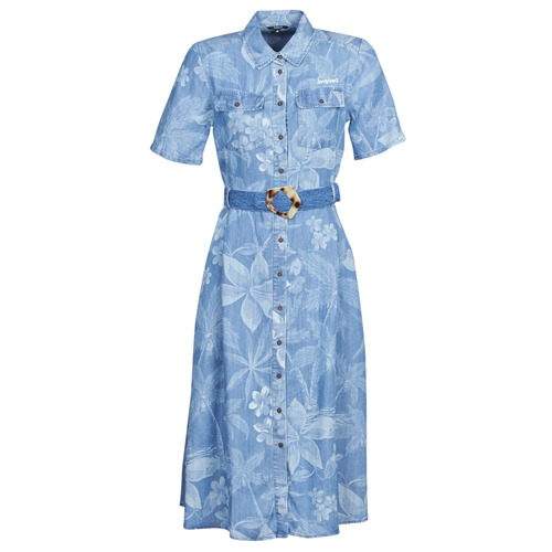 vaatteet Naiset Pitkä mekko Desigual KATE Blue