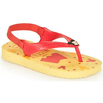 kengät Pojat Varvassandaalit Havaianas BABY DISNEY CLASSICS II Keltainen / Punainen