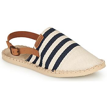 kengät Naiset Espadrillot Havaianas ORIGINE MULE STRAP Beige / Sininen